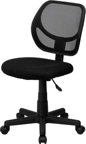 DK Furniture Mid-Back Black Mesh Swivel Task Chair