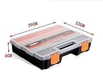 Caja de Almacenamiento de pl/ástico de Port/átil de Mano Tornillo electr/ónico componente Organizador Soporte con divisores Ajustables,Vario compartimentos 74