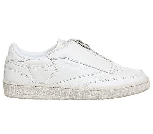 Chalk Silver Reebok Zip White White 85 Stone Sand Sneakers Womens C Club qBPwq10F