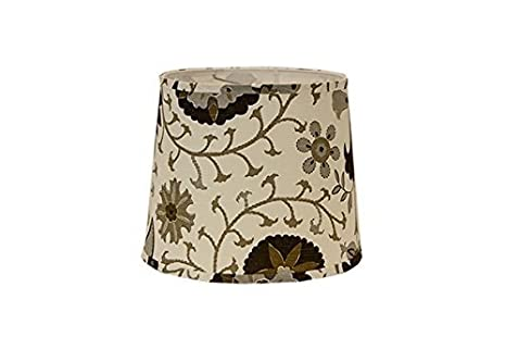 AHS Lighting SD1513-14WD Calypso Browns On White Drum Lamp Shade with Washer 14