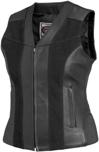 River Road Women's Santa Rosa Leather Vest - X-Large/Black