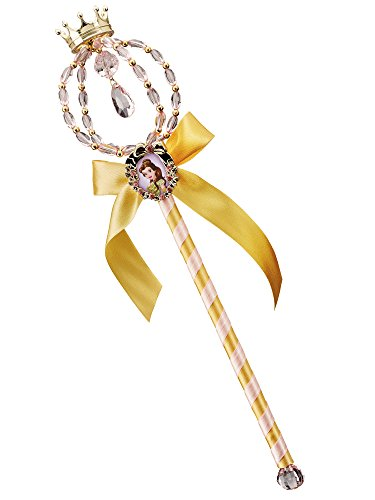 Disney Princess Girls Belle Classic Costumes (Belle Classic Disney Princess Beauty & The Beast Wand)