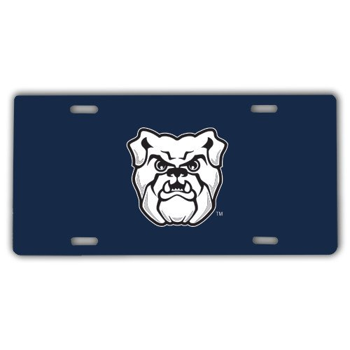 Butler License Plate 'Bulldog Head'