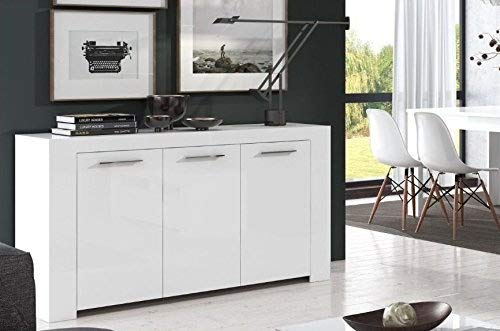 Home Est White Gloss Sideboard Dining Storage Unit