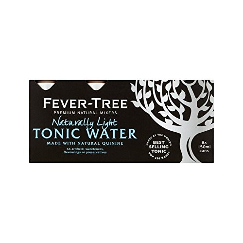 Fever-Tree Naturally Light Tonic Water Cans 8 x 150ml (Pack of 6) by Fever-Tree