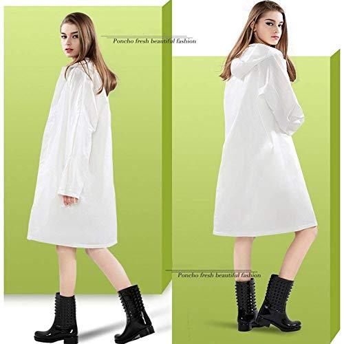 Fashion Longue Mode Transparent Fille Poncho Trekking Simple Classique Adultes Laisla Imperméable Blanc Extérieur Voyages Rafting dBq5Itw