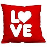 1WEN! Love Cojin decorativo 1 pieza Rojo