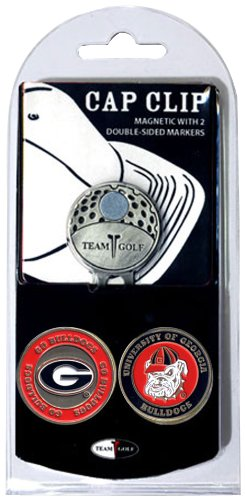 NCAA Georgia Bulldogs Cap Clip With 2 Golf Ball Markers (Bulldogs Golf Georgia)