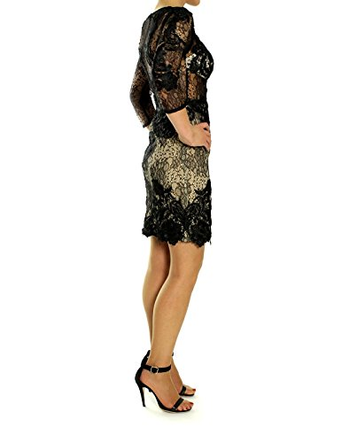 Kleid Damen Forever Forever Unique Schwarz Unique Damen qwXBZ6
