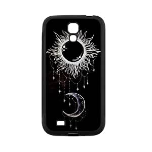 Unique Printing Art Custom Trippy Moon and Sun Phone Case for SamSung Galaxy S4 I9500,TPU diy cover case s4-linda6