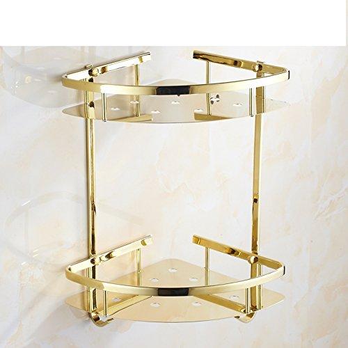 durable service HUIJNJIY Bathroom racks (Perforated),Stainless steel shower racks,Kitchen storage basket,Corner racks,Shower blue,For Bathroom Kitchen-D