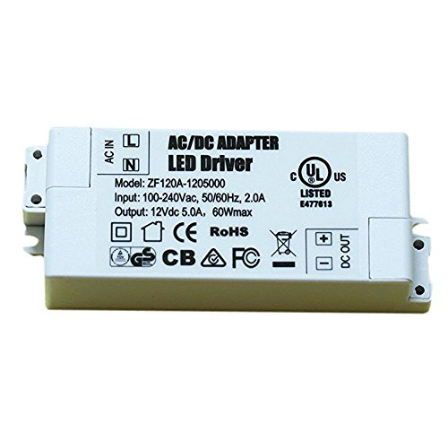 BesToo 60W 12V LED Power Supply Transformer Power Source for LED Strip Lights and G4,MR11, MR16 LED Light Bulbs and Cabinets light by BesToo (Image #5)