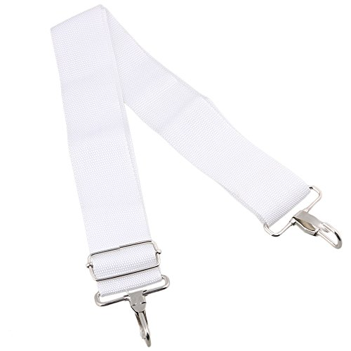 Yibuy 1.97inch Wide White Nylon Adjustable Snare Drum Sling Strap Belt Marching Percussion Accessory (Strap Drum Snare)