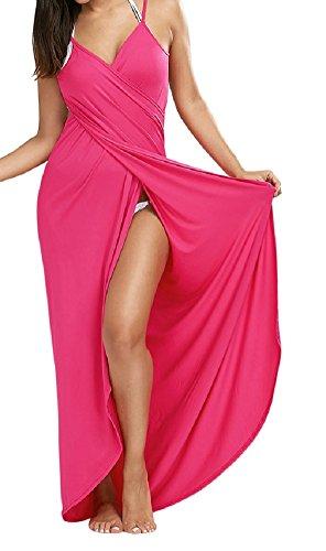 Women Solid Color Backless Cross Straps Swimwear - 6