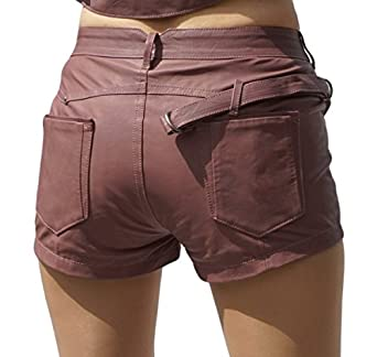 Diesel Black Gold Leder Leather Hotpants Shorts Shulis Calzoncini Flieder ( Lila) Gr IT 38 (EU 32/36): Amazon.de: Bekleidung