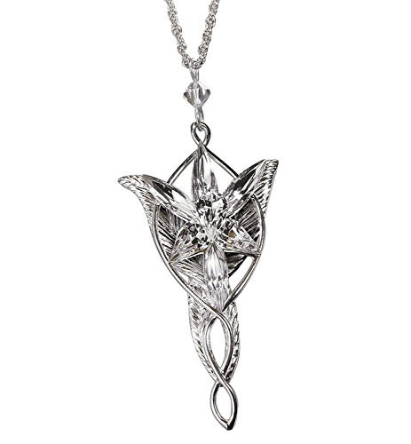 Arwen Evenstar Pendant Silver Plated Lord of the Rings Elven Princess Arwen Silver Pendant Necklace -