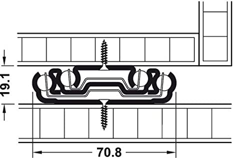 Kugelf/ührung Tragkraft bis 160 kg Schubladenschiene Teleskopschiene 159 KTS f/ür seitliche Montage /& f/ür schwere Lasten Vollauszug 864 mm Schwerlast-Ausz/üge f/ür Fahrzeuge /& Schubk/ästen 1 Paar