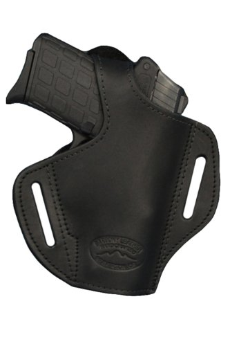 Barsony Black Leather Pancake Holster for Walther PP PPKS PPK right (Walther 9 Mm Ppk)