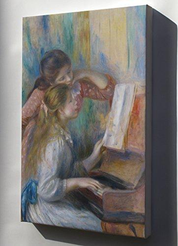 (Canvas 24x36; Jeunes Filles Au Piano By Pierre-Auguste Renoir 1892)