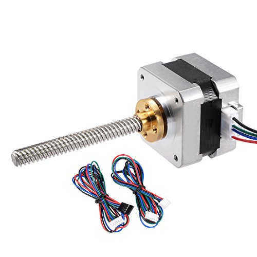 uxcell Stepper Motor Nema 17 Bipolar 75mm 0.22NM 0.4A 5.4V 4 Lead Cables for 3D Printer CNC Router Laser Lathe Machine