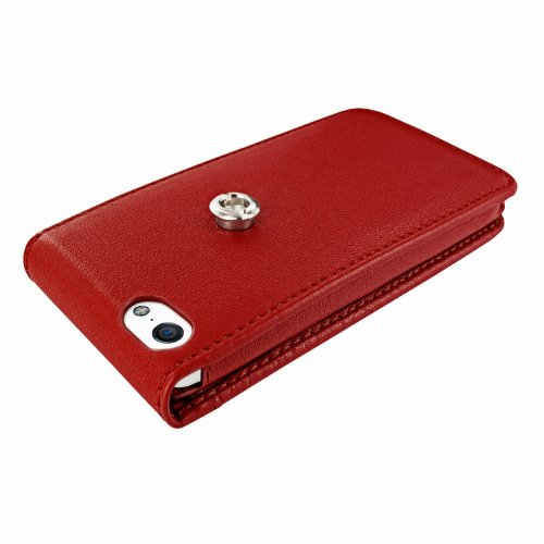 Piel Frama Ledertasche Classic Magnetic RACE Edition Rot/Weiß für Apple iPhone 5C