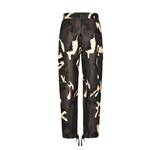 Con Pantaloni Casual Moda Pants Stampato Pantaloni High Militari Donna Sport Leggings Pantaloni Moda Tempo Primaverile Libero Autunno Jogging Waist Tasche Nero Eleganti Grazioso YqTpqzxwC