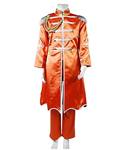 TISEA Adult Mens Band Cosplay Costume Halloween Suit (XXL, Orange) -