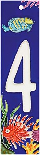 Aquarium Series 4 - Decorative Ceramic Art Tile - House Number - 2