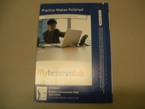 MyBCommLab with Pearson eText -- Access Card -- for Business Communication Today (12-month access)