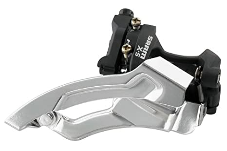 SRAM X.5 3X9 Front Derailleur for 9 Speed Chains, Black, Low-Clamp 00.7615.162.020