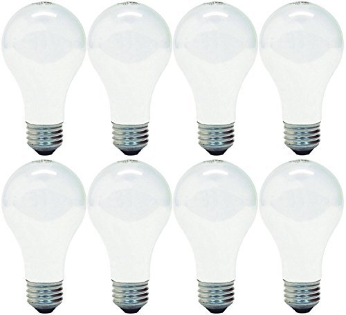GE Lighting 41036 100-Watt A19, Soft White, 8-pack (100w Bulb Incandescent)