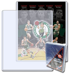 BCW 8 x 10 - Topload Holder (25 Holders/Pack) - Photo, Picture, Photograph Display - Baseball, Football, Basketball, Hockey, Golf, Single Sports Cards Top Load - Sportcards Card Collecting Supplies (Ball Display Golf Single)