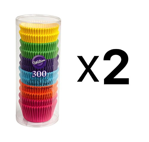 Wilton 415-2179 300 Count Rainbow Bright Standard Baking Cups Pack of Two by Wilton (Image #1)