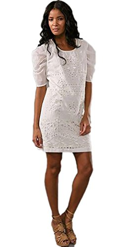 Antik Batik Womens Babou Dress White Extra Small