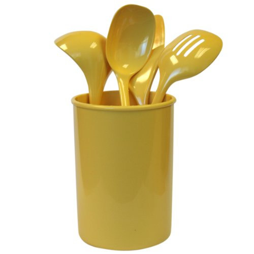 Reston Lloyd 5-Piece Calypso Basics Utensil Holder Set, Lemon