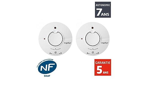 AngelEye - Detector de humo NF AngelEye Ingenious Duo st-ae625-fr - Autonomía 5 años - Garantía 5 años: Amazon.es: Bricolaje y herramientas