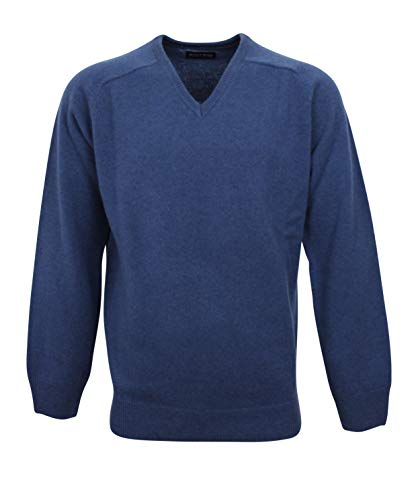 Col Fit Bleu 194608 Homme Lambswool Pull V amp; Jeans Normal Bots 100 ZnqPtxzw