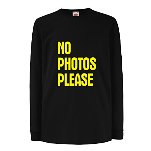 T-shirt for kids No Photos Please (7-8 years Black (Las Vegas Themed Prom)