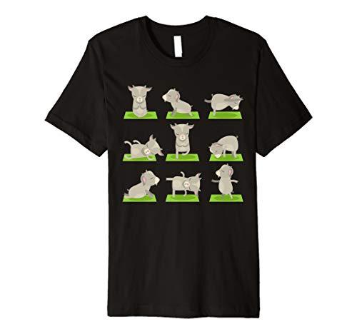 Funny Goat Yoga Tshirts-Yoga Goat On Mat-Cool Gifts T-Shirts Premium T-Shirt