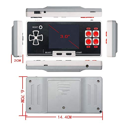 WOLSEN Old Arcade New 8 Bit Kids Classical Retro Classical Pocket Handheld Game Player Portable Game Console Pocket Console with 200 Games by WOLSEN (Image #4)