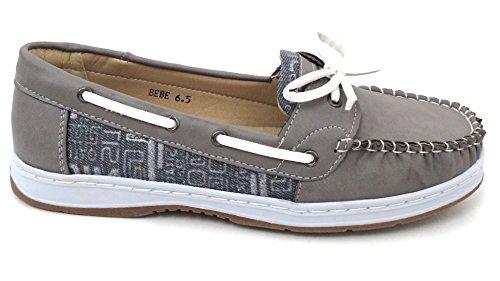 Shoes Moc bebe Boat Brown Beige Black Camel Deck Casual Loafers Sneaker J Oxfords Grey Women's Grey tp1xqww0C