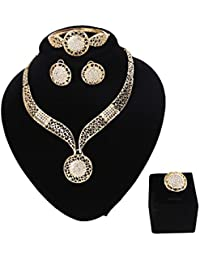 Womens Silver Gold Plated Alloy Rhinestone African...