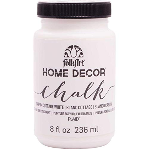 FolkArt 34929 Home Decor Chalk Furniture & Craft Paint in Assorted Colors, 8 ounce, Cottage White from FolkArt