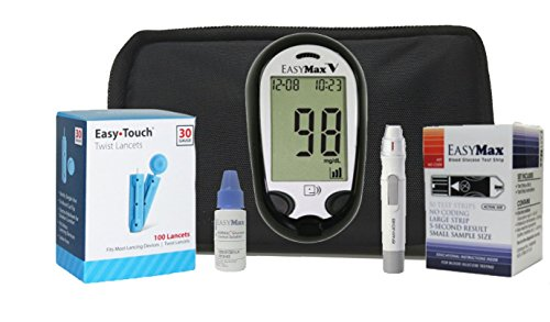 Easymax Diabetes Testing Kit Easymax V Talking Meter 50