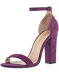 Amazon.com: Purple - Heeled Sandals / Sandals: Clothing, Shoes ...