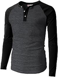 mens henleys amazon com  mens casual slim fit henley t shirts raglan baseball 3 4 sleeve \u0026 long