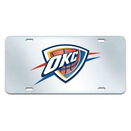 FANMATS NBA Oklahoma City Thunder Plastic License Plate (Inlaid) by Fanmats