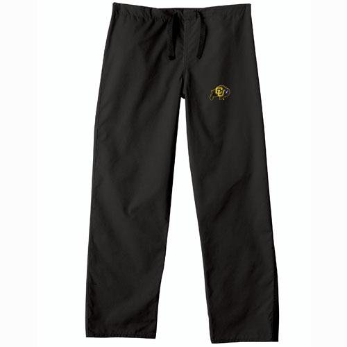 Colorado Golden Buffaloes NCAA Classic Scrub Pant (Black) (3X Large) by Gelscrubs