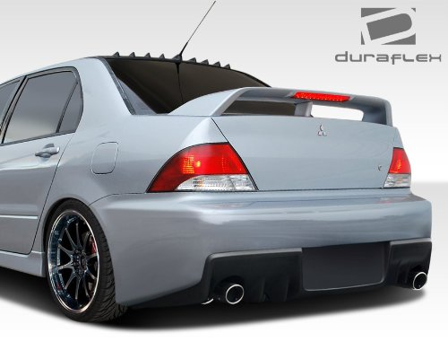 Duraflex ED-RNX-066 Evo X Look Rear Bumper Cover - 1 Piece Body Kit - Compatible For Mitsubishi Lancer -