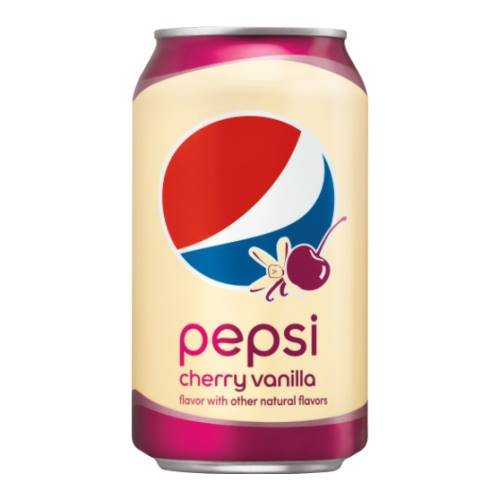Pepsi Cola Cherry Vanilla 12 oz Cans (12 Pack) by Pepsi
